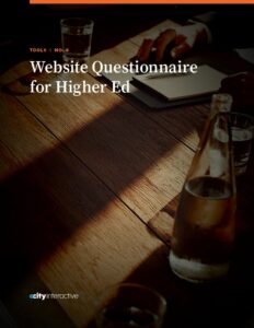 Website Questionnaire for Higher Education